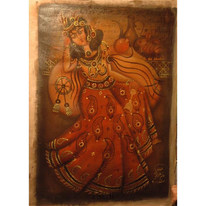 عکس نقاشی و خوشنویسیتابلو نقاشی خاتون قاجاری