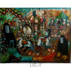 تابلو نقاشی مذهبی سبک قهوه خانه ای با موضوع علی اصغر