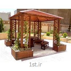 تخت سنتی سفره خانه چوبی بادوام از دکو پارت DecoPart
