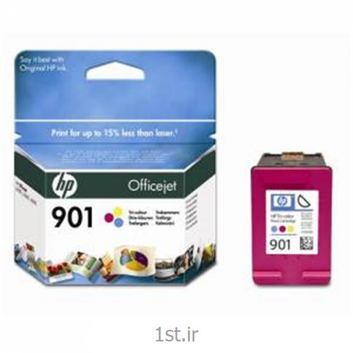 عکس جوهر کارتریجکارتریج جوهر افشان اچ پی رنگی مدل 901 CARTRIDGE INK JET HP
