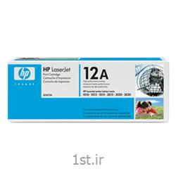 عکس تونر کارتریجکارتریج لیزری اچ پی سیاه و سفید مدل 1010-12A BLACK AND WHITE HP CARTRIDGE