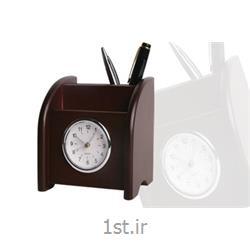 ساعت ST رومیزی چوبی همراه با جای موبایل و خودکار ST 600