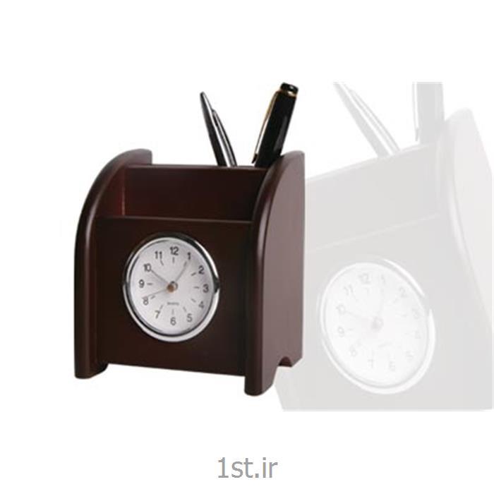 عکس لوازم جانبیساعت ST رومیزی چوبی همراه با جای موبایل و خودکار ST 600
