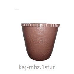 گلدان پلاستیکی قهوه ایی (goldan)