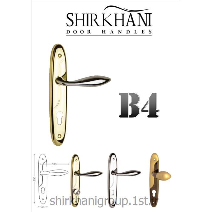دستگیره پلاک آلومینیمی B4 مناسب جهت در چوبی و آلومینیمی