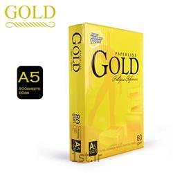 عکس کاغذ کپیکاغذ A5 گلد GOLD بسته 500 برگی