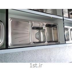 عکس سینک آشپزخانهسینک فانتزی استیل البرز 814 توکار