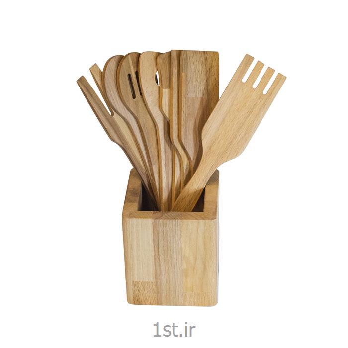 ست کفگیر و ملاقه چوبی کد Beech AMKM1