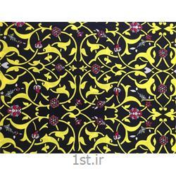 عکس پارچه کتانپارچه البسه 100% پنبه عرض 140 طرح آروشا رنگ مشکی