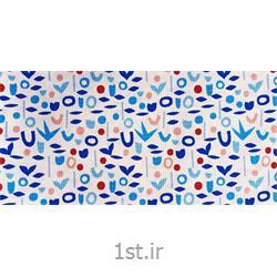 عکس سایر پارچه هاپارچه دستمال آشپزخانه عرض 140 طرح ویشکا رنگ آبی