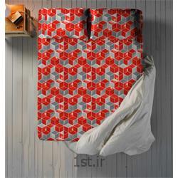 عکس ست تخت خوابملحفه نیم ست دو نفره سه تکه عرض 180 طرح روبیک