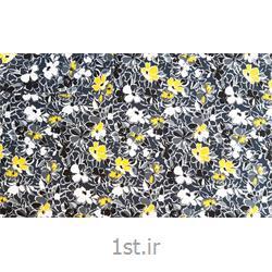 عکس پارچه کتان - پلی استرپارچه البسه پنبه پلی استر عرض 100 طرح ناتاشا رنگ مشکی