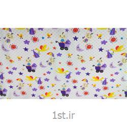 پارچه 100% پنبه عرض 140 طرح استارز رنگ یاسی