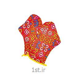 عکس دستکش کار در خانهدستکش فر دو تکه طرح شیراک رنگ قرمز