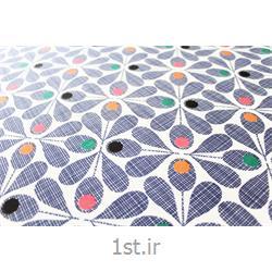 عکس پارچه کتان - پلی استرپارچه ملحفه پنبه پلی استر عرض 200 طرح کارن رنگ سرمه ای