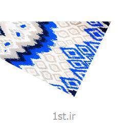 عکس پارچه پلی استر ویسکوزپارچه ملحفه پلی استر ویسکوز عرض 200 طرح داریا رنگ آبی