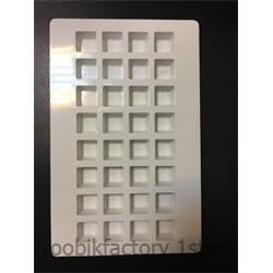 قالب شکلات پلی کربنات طرح اریج مربع
