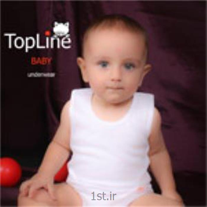 عکس لباس زیر بچه گانه زیرپوش نوزاد تاپ لاین مدل سفید ساده