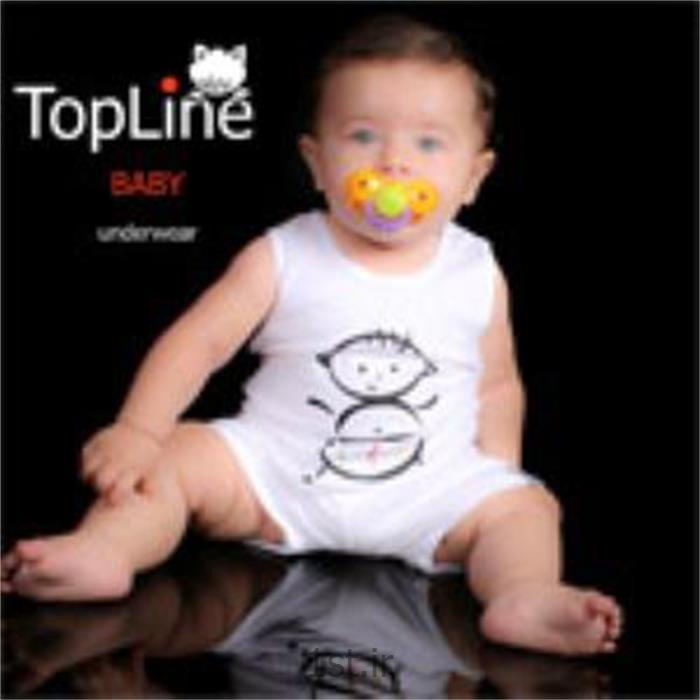 زیرپوش سفید پسرک تاپ لاین