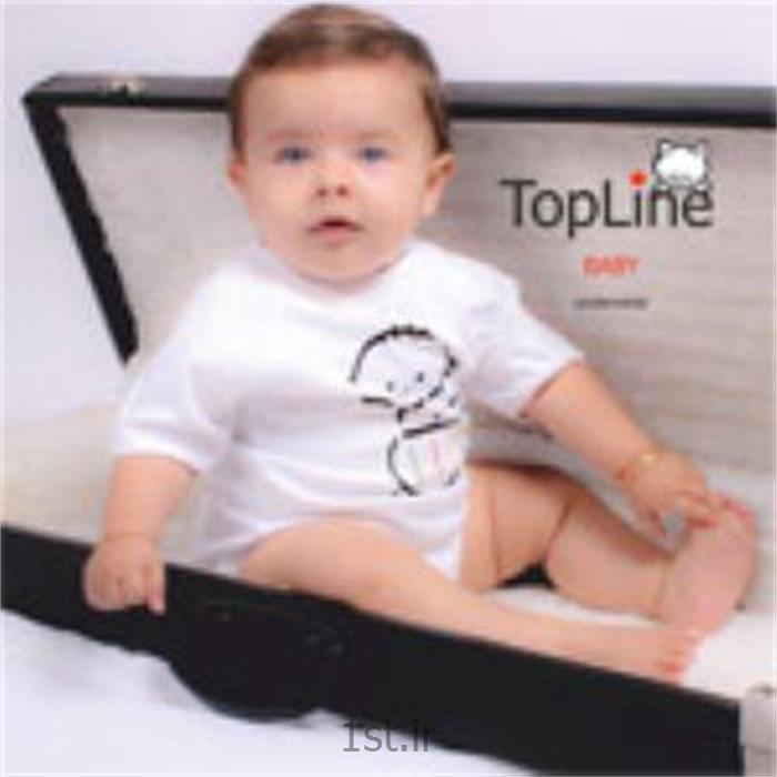 عکس لباس زیر بچه گانه زیرپوش تاپ لاین مدل پسرک سفید