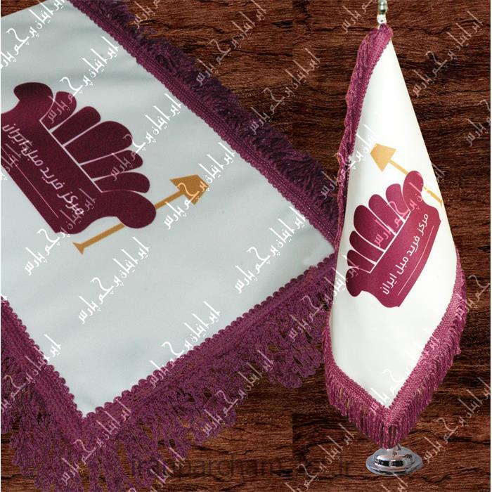 پرچم رومیزی ساتن تبلیغاتی چاپ دیجیتال 40