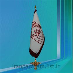 پرچم تشریفات ساتن دوخت معمولی با ریشه