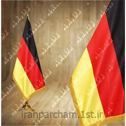 عکس پرچم، بنر و لوازم جانبیپرچم تشریفات ساتن کشور آلمان