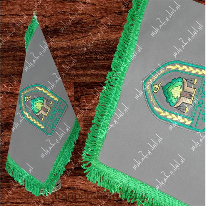 پرچم رومیزی جیر گلدوزی 06