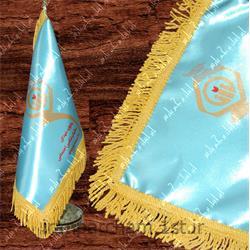 پرچم رومیزی ساتن تبلیغاتی چاپ دیجیتال 47