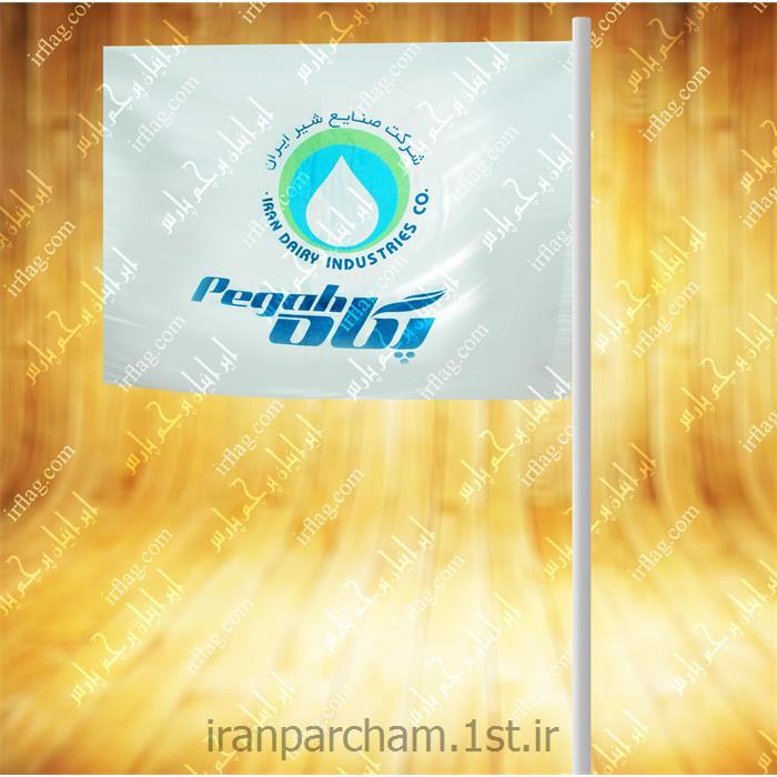 پرچم اهتزاز ساتن تبلیغاتی افقی 12