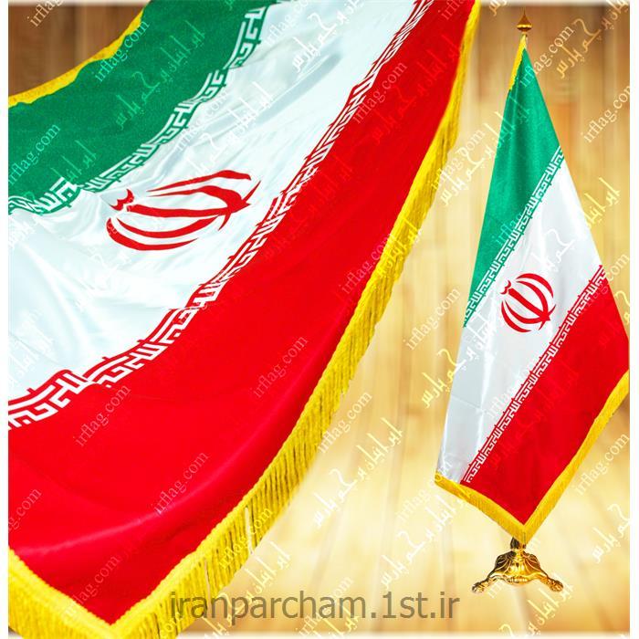 پرچم تشریفات ایران چاپ سیلک مدل T1