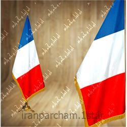 پرچم تشریفات ساتن کشور فرانسه