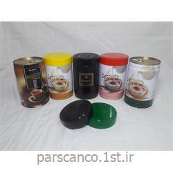 قوطی فلزی بسته بندی قهوه با درب پیچی 100 گرمی