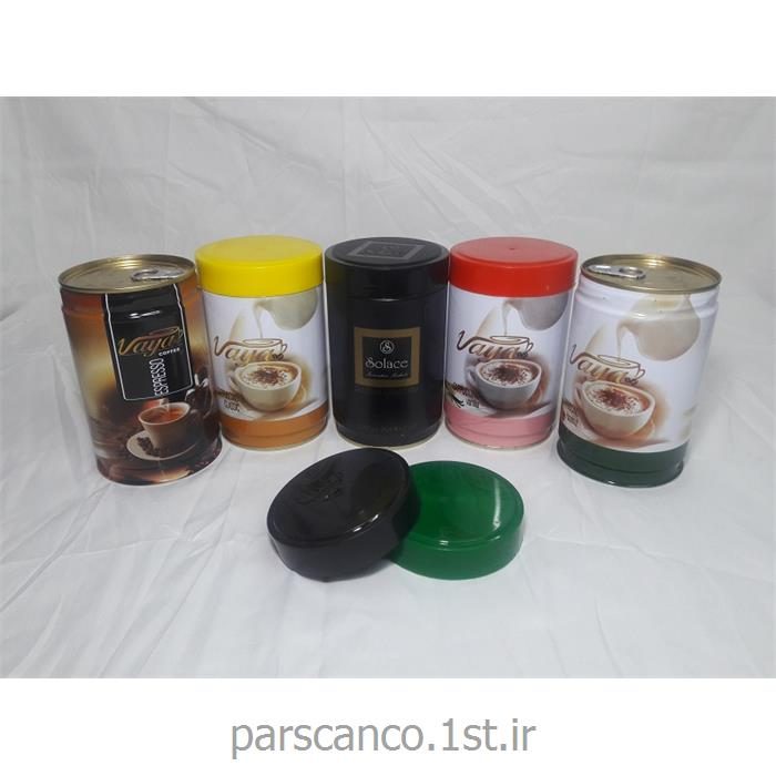 قوطی فلزی بسته بندی قهوه با درب پیچی