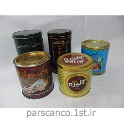 عکس قوطیقوطی فلزی چای گرد و چهارگوش
