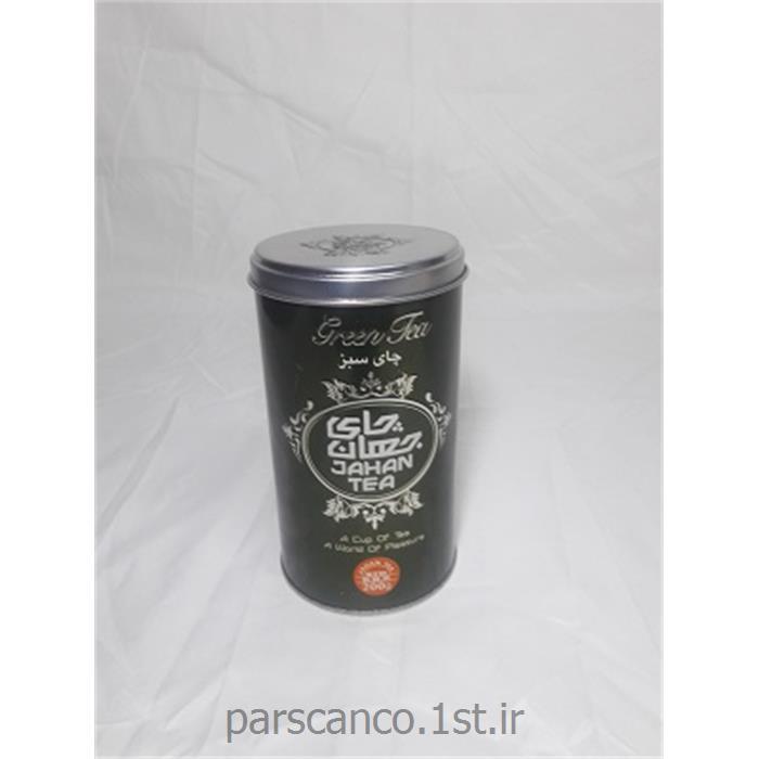 قوطی فلزی گرد چای 200 گرمی