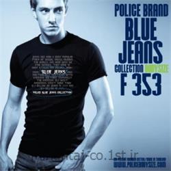 عکس ارائه دهنده اصلی برند تی شرت کتان آستین کوتاه یقه گرد مدل F353 پلیس POLICE BODY SIZE