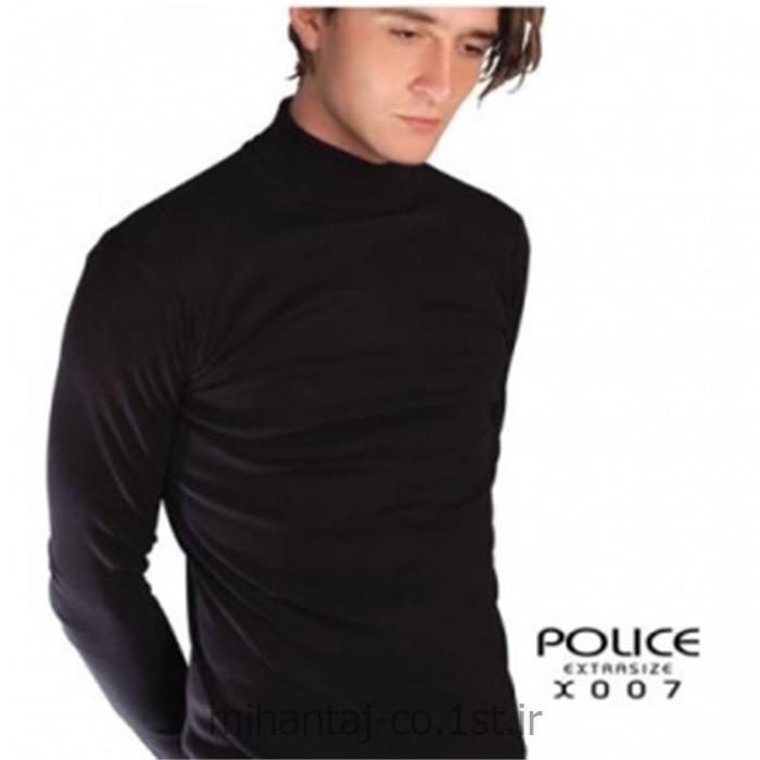 تی شرت کتان آستین بلند یقه گرد مدل X007 پلیس POLICE BODY SIZE