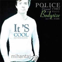 عکس ارائه دهنده اصلی برند تی شرت کتان آستین بلند یقه گرد مدل F366 پلیس POLICE BODY SIZE