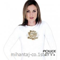 عکس ارائه دهنده اصلی برند تی شرت کتان آستین بلند یقه گرد دخترانه مدل G194 پلیس POLICE BODY SIZE