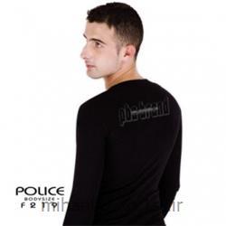 تی شرت کتان آستین بلند یقه گرد مدل F219 پلیس POLICE BODY SIZE