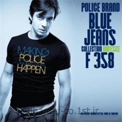 عکس ارائه دهنده اصلی برند تی شرت کتان آستین کوتاه یقه گرد مدل F358 پلیس POLICE BODY SIZE