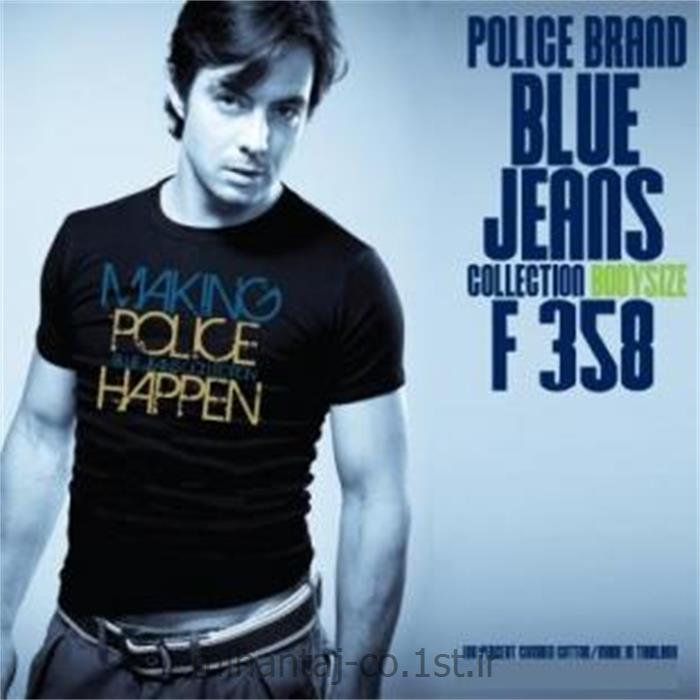 تی شرت کتان آستین کوتاه یقه گرد مدل F358 پلیس POLICE BODY SIZE