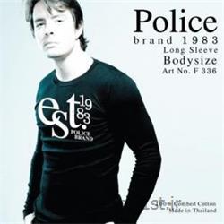 تی شرت کتان آستین بلند یقه گرد مدل F336 پلیس POLICE BODY SIZE