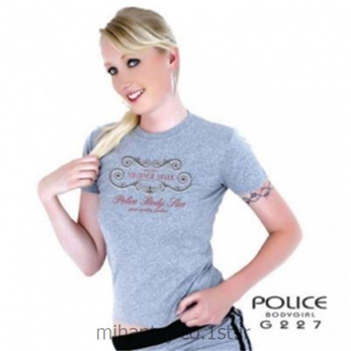 تی شرت کتان آستین کوتاه یقه گرد مدل G227 پلیس POLICE BODY SIZE