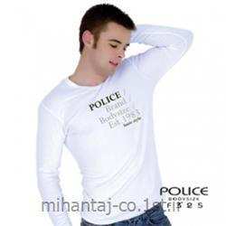 عکس ارائه دهنده اصلی برند تی شرت کتان آستین بلند یقه هفت مدل F325 پلیس POLICE BODY SIZE
