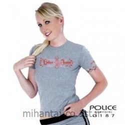 عکس ارائه دهنده اصلی برند تی شرت کتان آستین کوتاه یقه گرد مدل G187 پلیس POLICE BODY SIZE
