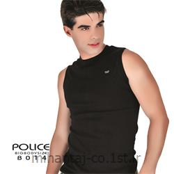 عکس ارائه دهنده اصلی برند تی شرت کتان بدون آستین یقه گرد مدل B014 پلیس POLICE BODY SIZE
