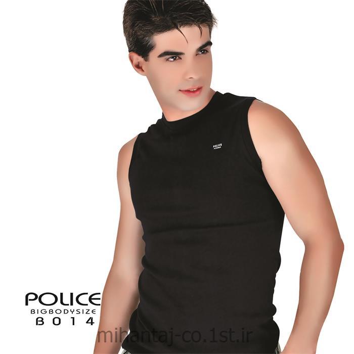 تی شرت کتان بدون آستین یقه گرد مدل B014 پلیس POLICE BODY SIZE