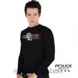 تی شرت کتان آستین بلند یقه گرد مدل F194 پلیس POLICE BODY SIZE